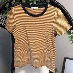 UO Truly Madly Deeply Yellow Striped Tshirt
